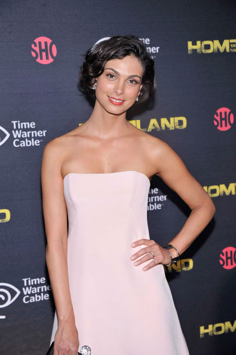 Actress Morena Baccarin attends the Showtime and Time Warner Cable hosted premiere screening and reception to launch the second season of 'Homeland' at the Intrepid Sea-Air-Space Museum on September 7, 2012 in New York City.