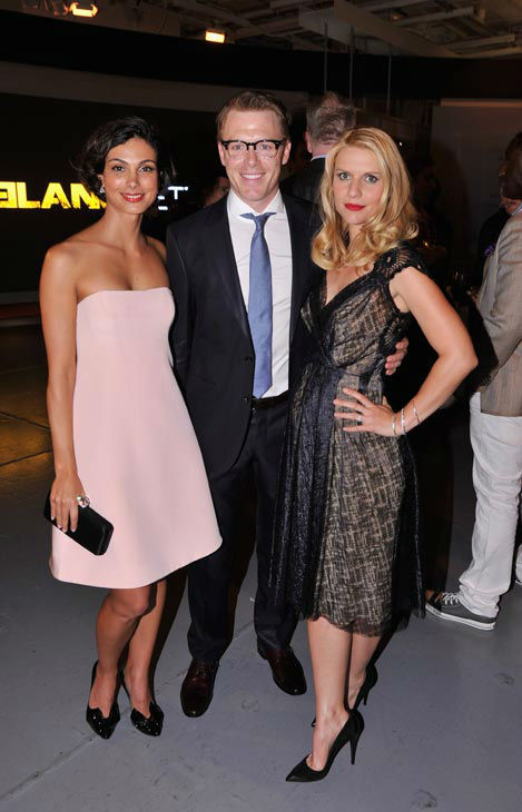 Actors Morena Baccarin, Diego Klattenhoff  and Claire Danes attend the Showtime and Time Warner Cable hosted premiere screening and reception to launch the second season of 'Homeland' at the Intrepid Sea-Air-Space Museum on September 7, 2012 in New York C