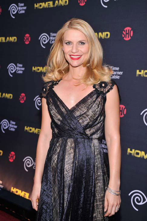 Actress Claire Danes attends the Showtime and Time Warner Cable hosted premiere screening and reception to launch the second season of 'Homeland' at the Intrepid Sea-Air-Space Museum on September 7, 2012 in New York City.
