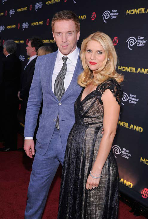 Actors Damian Lewis and  Claire Danes attend the Showtime and Time Warner Cable hosted premiere screening and reception to launch the second season of 'Homeland' at the Intrepid Sea-Air-Space Museum on September 7, 2012 in New York City.