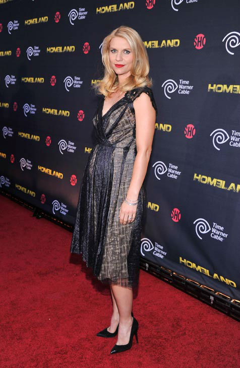 Actress Claire Danes attends attends the Showtime and Time Warner Cable hosted premiere screening and reception to launch the second season of 'Homeland' at the Intrepid Sea-Air-Space Museum on September 7, 2012 in New York City.