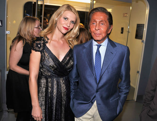 Actress Claire Danes and designer Valentino...