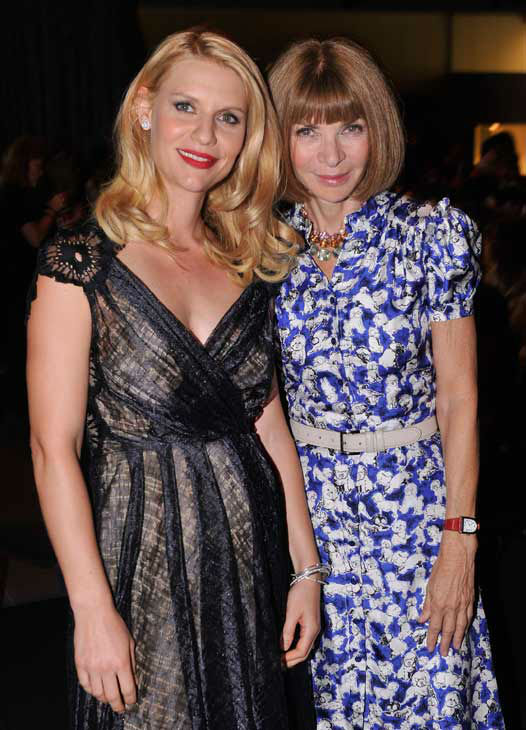 Actress Claire Danes and editor-in-chief of American Vogue Anna Wintour attend the Showtime and Time Warner Cable hosted premiere screening and reception to launch the second season of 'Homeland' at the Intrepid Sea-Air-Space Museum on September 7, 2012 i