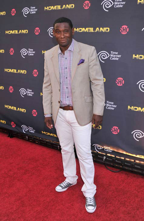 Actor David Harewood attends the Showtime and Time Warner Cable hosted premiere screening and reception to launch the second season of 'Homeland' at the Intrepid Sea-Air-Space Museum on September 7, 2012 in New York City.