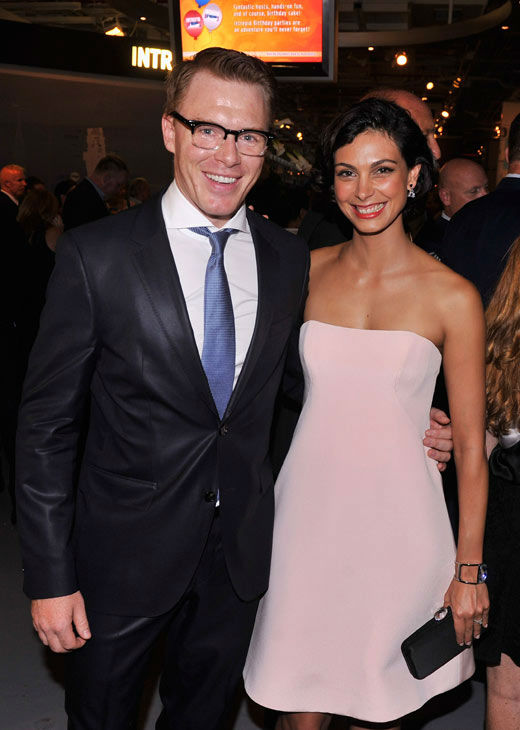 Actors Diego Klattenhoff and Morena Baccarin attend the Showtime and Time Warner Cable hosted premiere screening and reception to launch the second season of 'Homeland' at the Intrepid Sea-Air-Space Museum on September 7, 2012 in New York City.