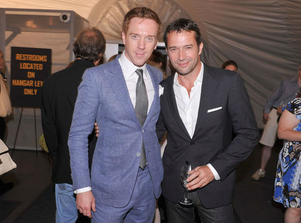 Actors Damian Lewis and James Purefoy attend the Showtime and Time Warner Cable hosted premiere screening and reception to launch the second season of 'Homeland' at the Intrepid Sea-Air-Space Museum on September 7, 2012 in New York City.