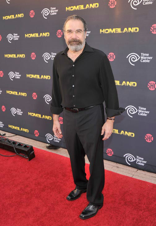 Actor Mandy Patinkin attends the Showtime and Time Warner Cable hosted premiere screening and reception to launch the second season of 'Homeland' at the Intrepid Sea-Air-Space Museum on September 7, 2012 in New York City.