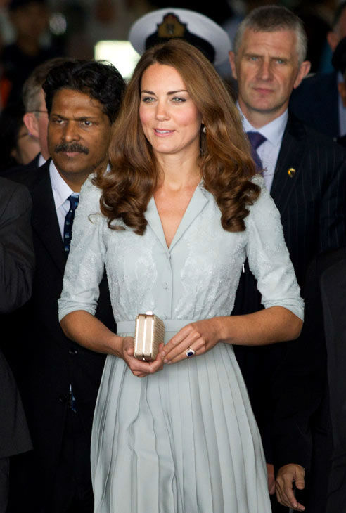 "<div class=""meta ""><span class=""caption-text "">Kate, the Duchess of Cambridge arrives along with Britain's Prince William, Duke of Cambridge, not in the picture, at the Kuala Lumpur International Airport in Sepang outside Kuala Lumpur, Malaysia Thursday, Sept. 13, 2012. (AP Photo/ Mohd Rasfan)</span></div>"