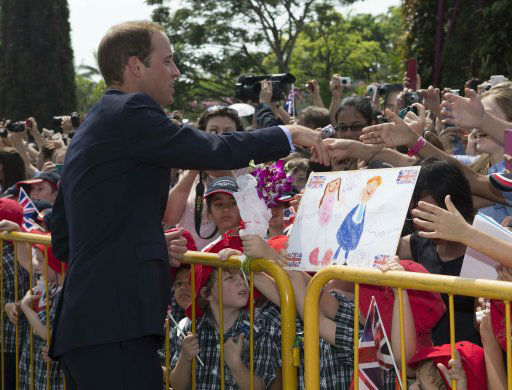 The Duke and Duchess of Cambridge visit the botanic gardens in Singapore on September 12, 2012, on behalf of The Queen in celebration of Her Majesty&#39;s Diamond Jubilee.  <span class=meta>(Ian Vogler &#47; The Daily Mirror)</span>