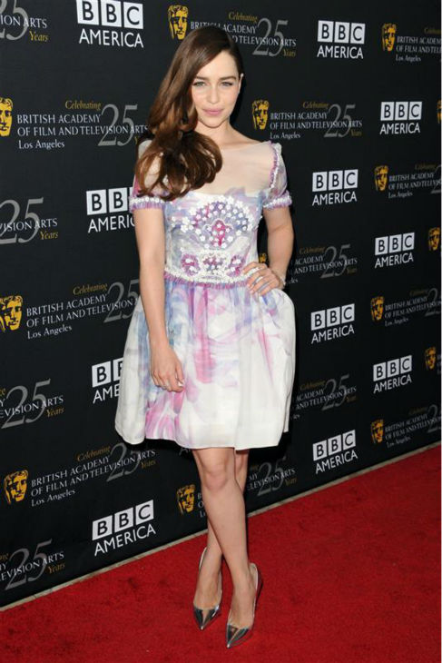 Emilia Clarke &#40;Daenerys Targaryen on &#39;Game Of Thrones&#39;&#41; appears at a 2012 BAFTA Los gala in Los Angeles on Sept. 22, 2013. She is wearing a Chanel Resort dress and Chanel jewelry.  <span class=meta>(Tony DiMaio &#47; Startraksphoto.com)</span>