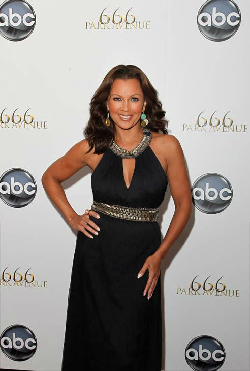 "<div class=""meta image-caption""><div class=""origin-logo origin-image ""><span></span></div><span class=""caption-text"">Vanessa Williams Tweeted a photo of herself, Hagman and Brenda Strong along with the caption, 'RIP to the amazingly charming#LarryHagman.'   (Pictured: Vanessa Williams appears at a New York City premiere party for '666 Park Avenue' on September 24, 2012.) (ABC)</span></div>"
