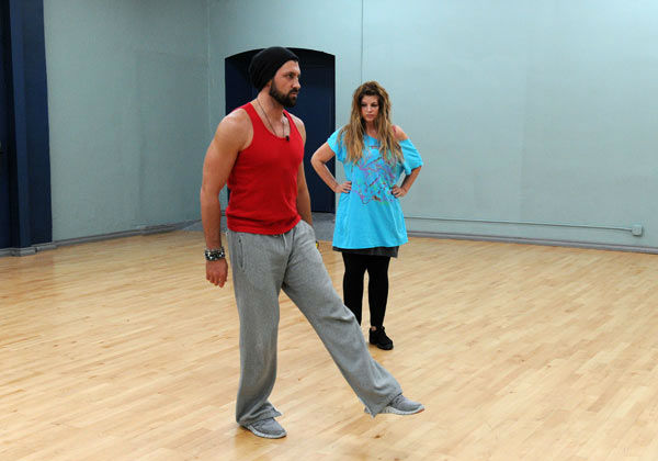 Kirstie Alley and Maksim Chmerkovskiy appear in a rehearsal ph