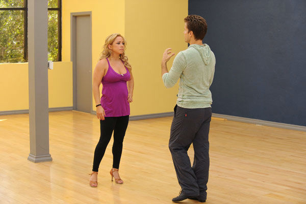 Sabrina Bryan and Louis van Amstel appear in a rehearsal photo for &#39;Dancing With The Stars: All-Stars&#39; season 15. <span class=meta>(ABC Photo&#47; Todd Wawrychuk)</span>