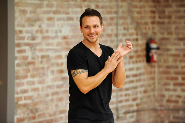 "<div class=""meta ""><span class=""caption-text "">Drew Lachey appears in a rehearsal photo for 'Dancing With The Stars: All-Stars' season 15. (ABC Photo/ Todd Wawrychuk)</span></div>"