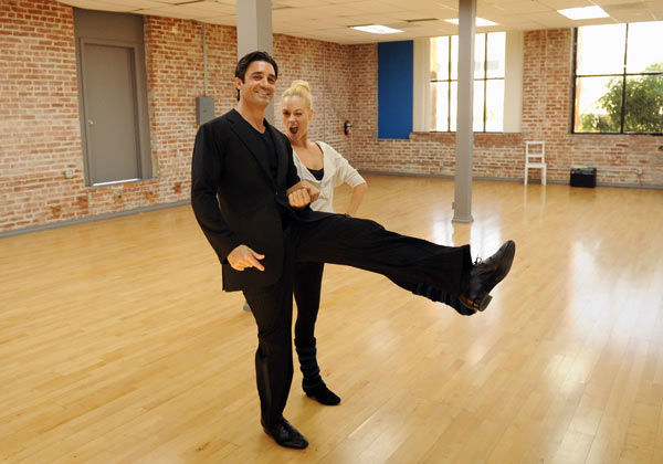 Gilles Marini and last season's champ Peta Murgatroyd appear in a rehearsal photo for 'Dancing With Th