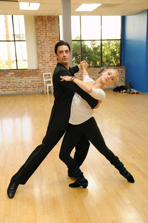 "<div class=""meta ""><span class=""caption-text "">Gilles Marini and last season's champ Peta Murgatroyd appear in a rehearsal photo for 'Dancing With The Stars: All-Stars' season 15. (ABC Photo/ Todd Wawrychuk)</span></div>"