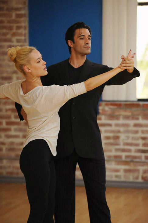 Gilles Marini and last season's champ Peta Murgatroyd appear in a rehearsal photo for 'Dancing With The Stars: All-Stars' season 15.