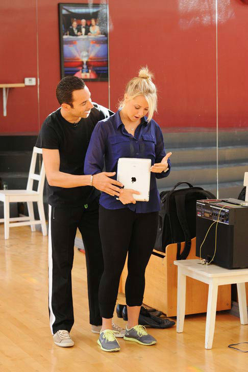 "<div class=""meta ""><span class=""caption-text "">Helio Castroneves and Chelsie Hightower appear in a rehearsal photo for 'Dancing With The Stars: All-Stars' season 15. (ABC Photo/ Todd Wawrychuk)</span></div>"