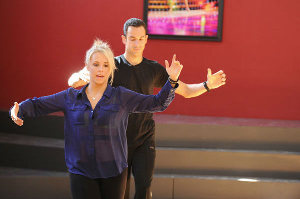 "<div class=""meta image-caption""><div class=""origin-logo origin-image ""><span></span></div><span class=""caption-text"">Helio Castroneves and Chelsie Hightower appear in a rehearsal photo for 'Dancing With The Stars: All-Stars' season 15. (ABC Photo/ Todd Wawrychuk)</span></div>"