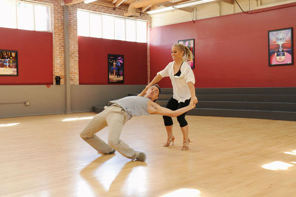Shawn Johnson and three-time champ Derek Hough...