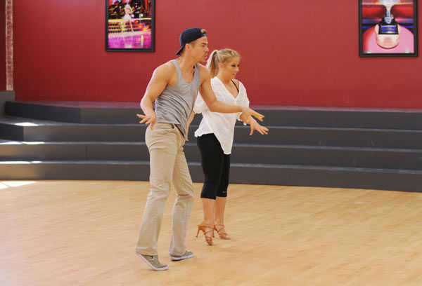"<div class=""meta image-caption""><div class=""origin-logo origin-image ""><span></span></div><span class=""caption-text"">Shawn Johnson and three-time champ Derek Hough appear in a rehearsal photo for 'Dancing With The Stars: All-Stars' season 15. (ABC Photo/ Todd Wawrychuk)</span></div>"