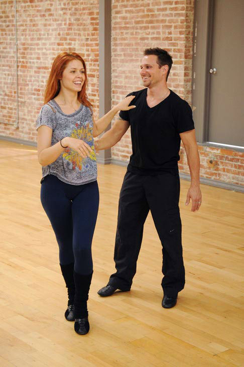 Drew Lachey and Anna Trebunskaya appear in a rehearsal photo for &#39;Dancing With The Stars: All-Stars&#39; season 15. <span class=meta>(ABC Photo&#47; Todd Wawrychuk)</span>