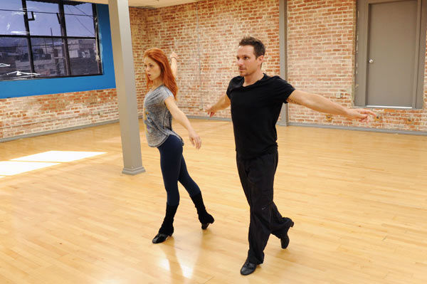 "<div class=""meta image-caption""><div class=""origin-logo origin-image ""><span></span></div><span class=""caption-text"">Drew Lachey and Anna Trebunskaya appear in a rehearsal photo for 'Dancing With The Stars: All-Stars' season 15. (ABC Photo/ Todd Wawrychuk)</span></div>"