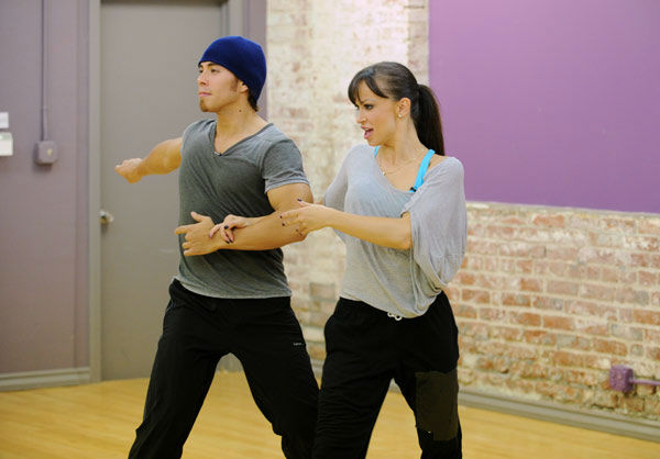 Apolo Anton Ohno and season 13 champ Karina Smirnoff appear in a rehearsal photo for &#39;Dancing With The Stars: All-Stars&#39; season 15. <span class=meta>(ABC Photo&#47; Todd Wawrychuk)</span>