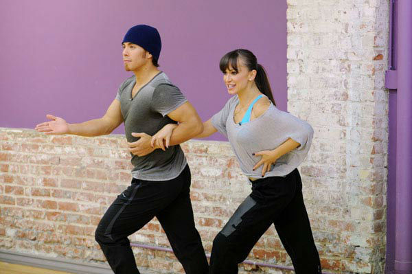 "<div class=""meta image-caption""><div class=""origin-logo origin-image ""><span></span></div><span class=""caption-text"">Apolo Anton Ohno and season 13 champ Karina Smirnoff appear in a rehearsal photo for 'Dancing With The Stars: All-Stars' season 15. (ABC Photo/ Todd Wawrychuk)</span></div>"