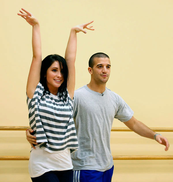 Bristol Palin and two-time champ Mark Ballas, who were partners in season 11, appear in a rehearsal photo for &#39;Dancing With The Stars: All-Stars&#39; season 15. <span class=meta>(ABC Photo&#47; Ralph Freso)</span>