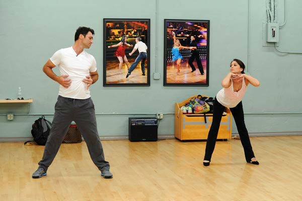 "<div class=""meta ""><span class=""caption-text "">Melissa Rycroft and Tony Dovolani, who were partners in season 8, appear in a rehearsal photo for 'Dancing With The Stars: All-Stars' season 15. (ABC Photo/ Todd Wawrychuk)</span></div>"