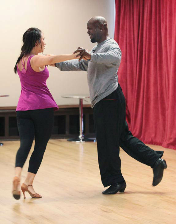 Emmitt Smith and two-time champ Cheryl Burke, who were partners in season 3, appear in a rehearsal photo for &#39;Dancing With The Stars: All-Stars&#39; season 15. <span class=meta>(ABC Photo&#47; Bill Matlock)</span>
