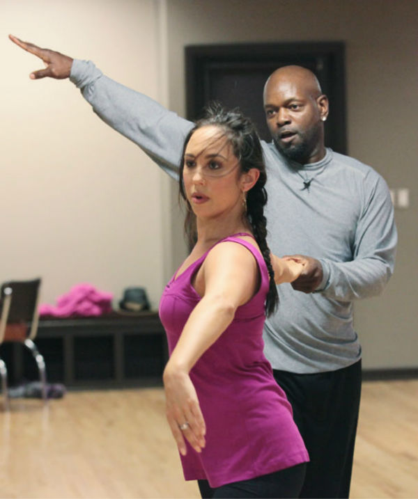Emmitt Smith and two-time champ Cheryl Burke, who were par