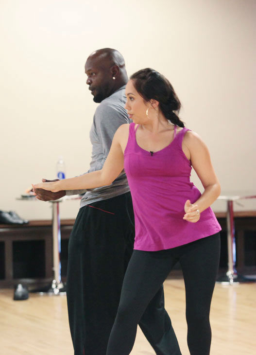 "<div class=""meta image-caption""><div class=""origin-logo origin-image ""><span></span></div><span class=""caption-text"">Emmitt Smith and two-time champ Cheryl Burke, who were partners in season 3, appear in a rehearsal photo for 'Dancing With The Stars: All-Stars' season 15. (ABC Photo/ Bill Matlock)</span></div>"