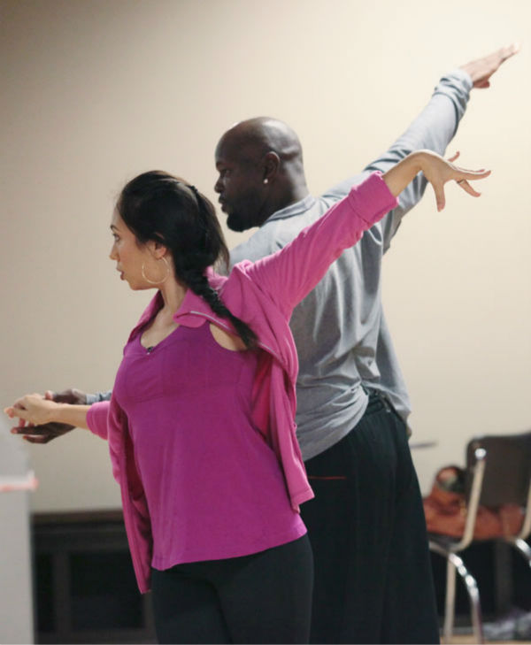 "<div class=""meta ""><span class=""caption-text "">Emmitt Smith and two-time champ Cheryl Burke, who were partners in season 3, appear in a rehearsal photo for 'Dancing With The Stars: All-Stars' season 15. (ABC Photo/ Bill Matlock)</span></div>"