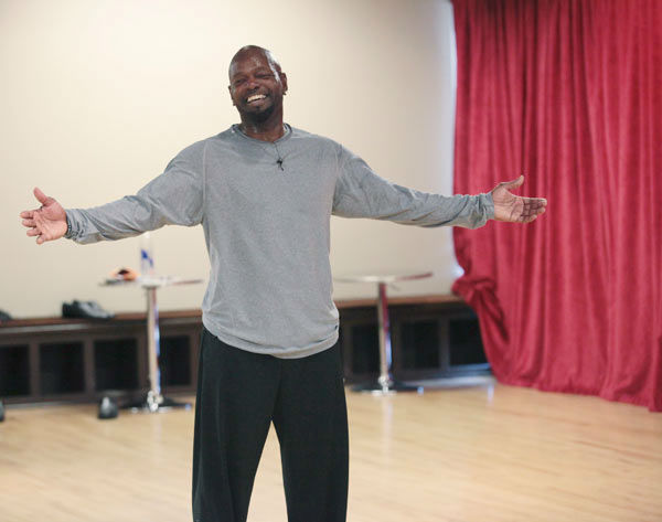 Emmitt Smith appears in a rehearsal photo for 'Dancing With The Stars: All-Stars' season 15.