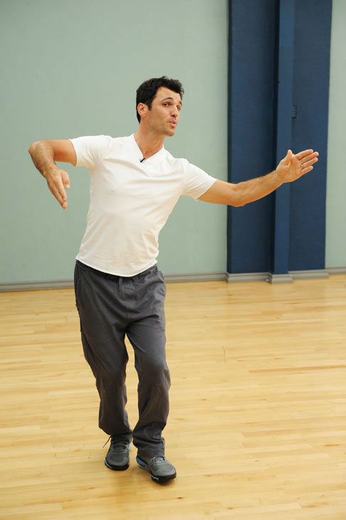 Tony Dovolani appears in a rehearsal photo for...