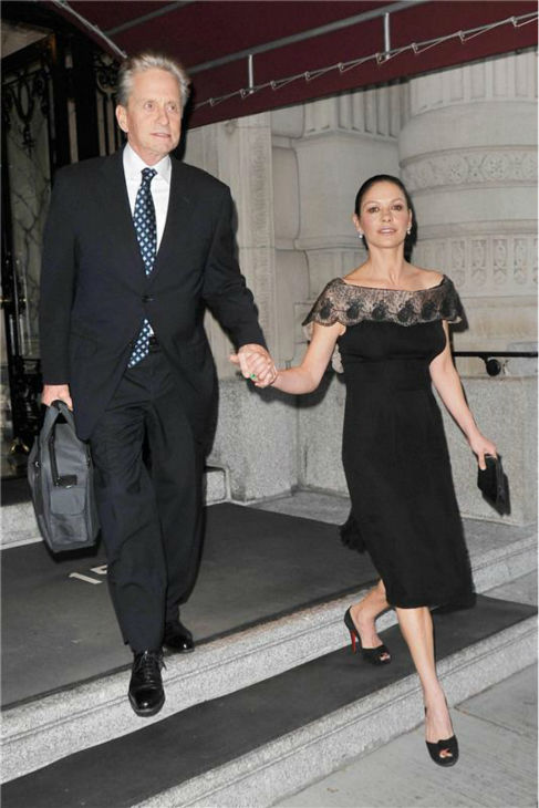 Michael Douglas and Catherine Zeta-Jones appear in New York on Sept. 25, 2012 -- his 68th birthday and her 43rd birthday. <span class=meta>(Javier Mateo &#47; Startraksphoto.com)</span>