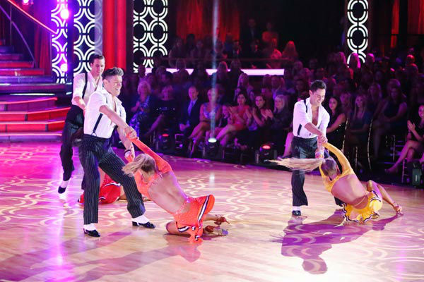 The Troupe also performed a number to &#39;Go Get It,&#39; also choreographed by Gilkison on &#39;Dancing With The Stars: The Results Show&#39; on Tuesday, September 25, 2012. <span class=meta>(ABC Photo&#47; Adam Taylor)</span>