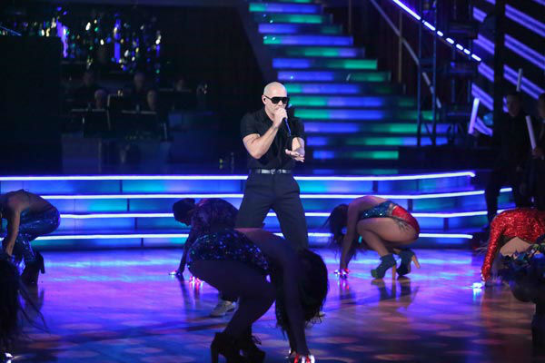 Rapper Pitbull Tweeted, &#39;I highly respected #JenniRivera 4 being a gr8 performer but more then tht being real &#38; gr8 example 4 us all que dios la bendiga &#38;may she RIP&#39; &#40;Pictured: Pitbull appears on &#39;Dancing With The Stars: The Results Show&#39; on Tuesday, September 25, 2012.&#41; <span class=meta>(ABC Photo&#47; Adam Taylor)</span>