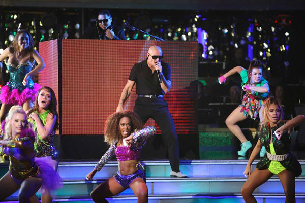 "<div class=""meta ""><span class=""caption-text "">Pitbull made the primetime television debut of his new single, 'Don't Stop the Party' on 'Dancing With The Stars: The Results Show' on Tuesday, September 25, 2012. The song is from his upcoming album, 'Global Warming,' which is due out November 19.  (ABC Photo/ Adam Taylor)</span></div>"