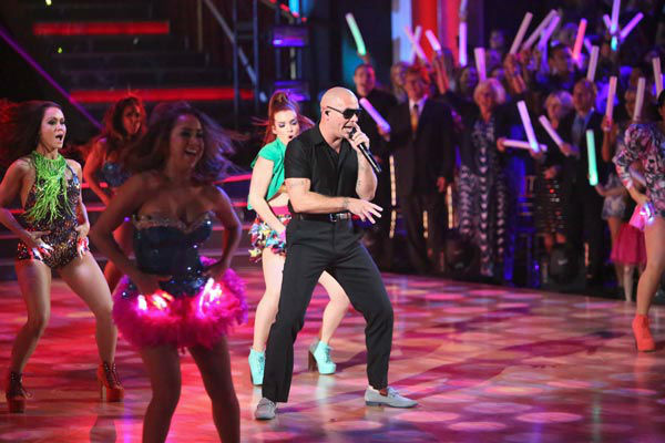 Pitbull made the primetime television debut of his new single, 'Don't Stop the Party' on 'Dancing With The Stars: The Results Show' on Tuesday, September 25, 2012. The song is from his upcoming album, 'Global Warming,' which is due o