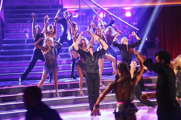 "<div class=""meta ""><span class=""caption-text "">The opening number for the night featured all the pro dancers of the season and The Troupe to a medley of 'I Wanna Dance with Somebody/Dance Again,' choreographed by Jason Gilkison on 'Dancing With The Stars: The Results Show' on Tuesday, September 25, 2012. (ABC Photo/ Adam Taylor)</span></div>"