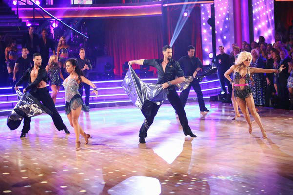 The opening number for the night featured all the pro dancers of the season and The Troupe to a medley of 'I Wanna Dance with Somebody/Dance Again,' choreographed by Jason Gilkison on 'Dancing With The Stars: The Results Show' on Tuesday, September 25, 20