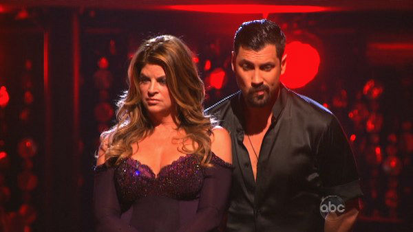 Actress Kirstie Alley and her partner Maksim Chmerkovskiy await their fate on &#39;Dancing With The Stars: The Results Show&#39; on Tuesday, September 25. The pair received 19 out of 30 points from the judges for their Fox Trot on the season premiere of &#39;Dancing With The Stars: All-Stars&#39; on September 24, 2012.  <span class=meta>(ABC Photo)</span>