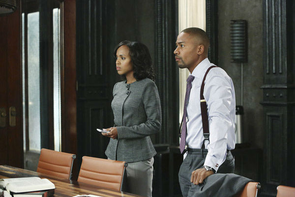 "<div class=""meta ""><span class=""caption-text "">Kerry Washington appears in the 'Scandal' season 2 episode 'White Hat's Off,' which aired on Sept. 27, 2012. (ABC/Danny Feld)</span></div>"