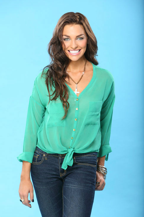 "<div class=""meta image-caption""><div class=""origin-logo origin-image ""><span></span></div><span class=""caption-text"">Kristy appears in a promotional photo for the seventeenth edition of 'The Bachelor,' which stars Sean Lowe and premieres in January 2013, on the ABC Television Network. (ABC Photo/ Kevin Foley)</span></div>"