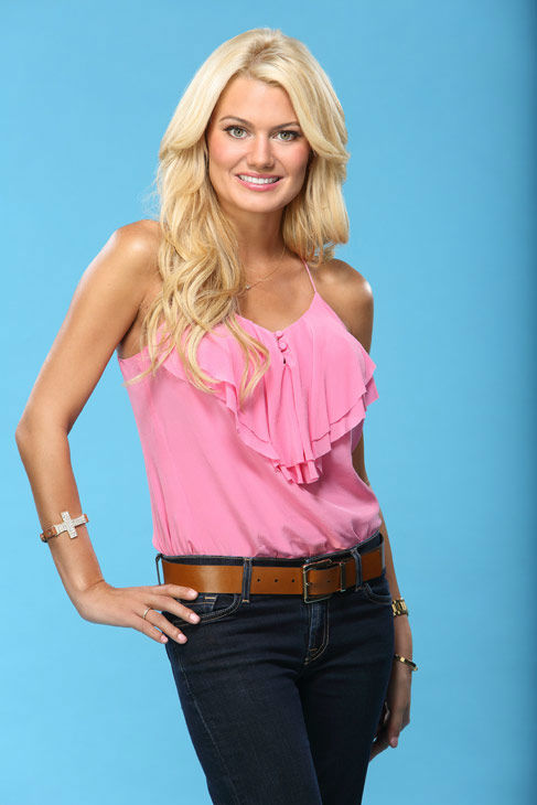 Lacey appears in a promotional photo for the seventeenth edition of 'The Bachelor,' which stars Sean Lowe and premieres in January 2013, on the ABC Television Network.