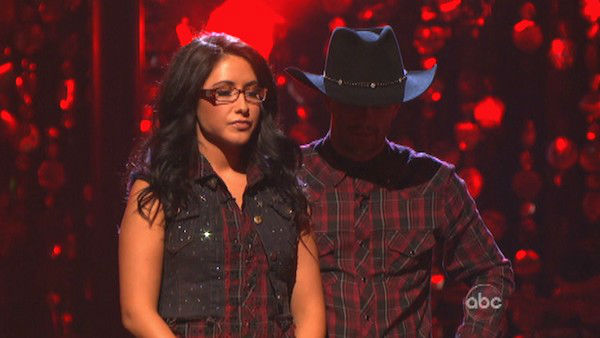 "<div class=""meta ""><span class=""caption-text "">Reality star Bristol Palin and her partner Mark Ballas await their fate on 'Dancing With The Stars: The Results Show' on Tuesday, Oct. 2, 2012. The pair received 18 out of 30 points from the judges for their Quickstep on week two of 'Dancing With The Stars: All-Stars,' which aired on Oct. 1, 2012. (ABC Photo)</span></div>"