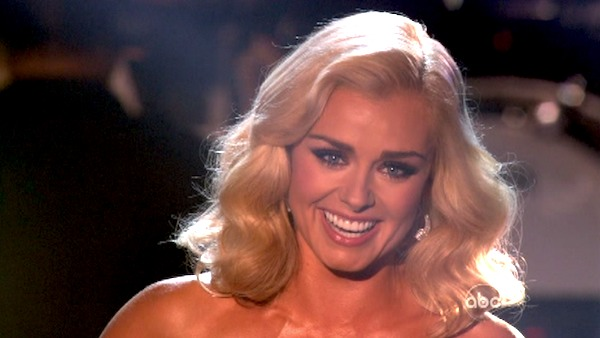Katherine Jenkins, who competed on the show last season and finished in second place, returned to the ballroom as a musical guest on 'Dancing With The Stars: The Results Show' on Tuesday, Oct. 2, 2012.
